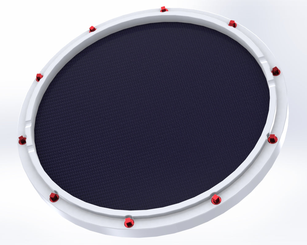 "RCP Drum Company Custom 13"" White Double Sided Snare Drum Practice Pad Twilight Head - RCP Drum Company"