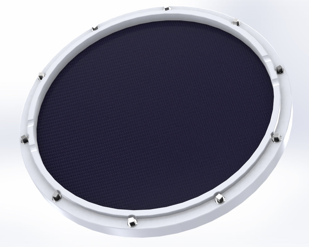 "RCP Drum Company Custom 11"" White Double Sided Snare Drum Practice Pad Twilight Head - RCP Drum Company"