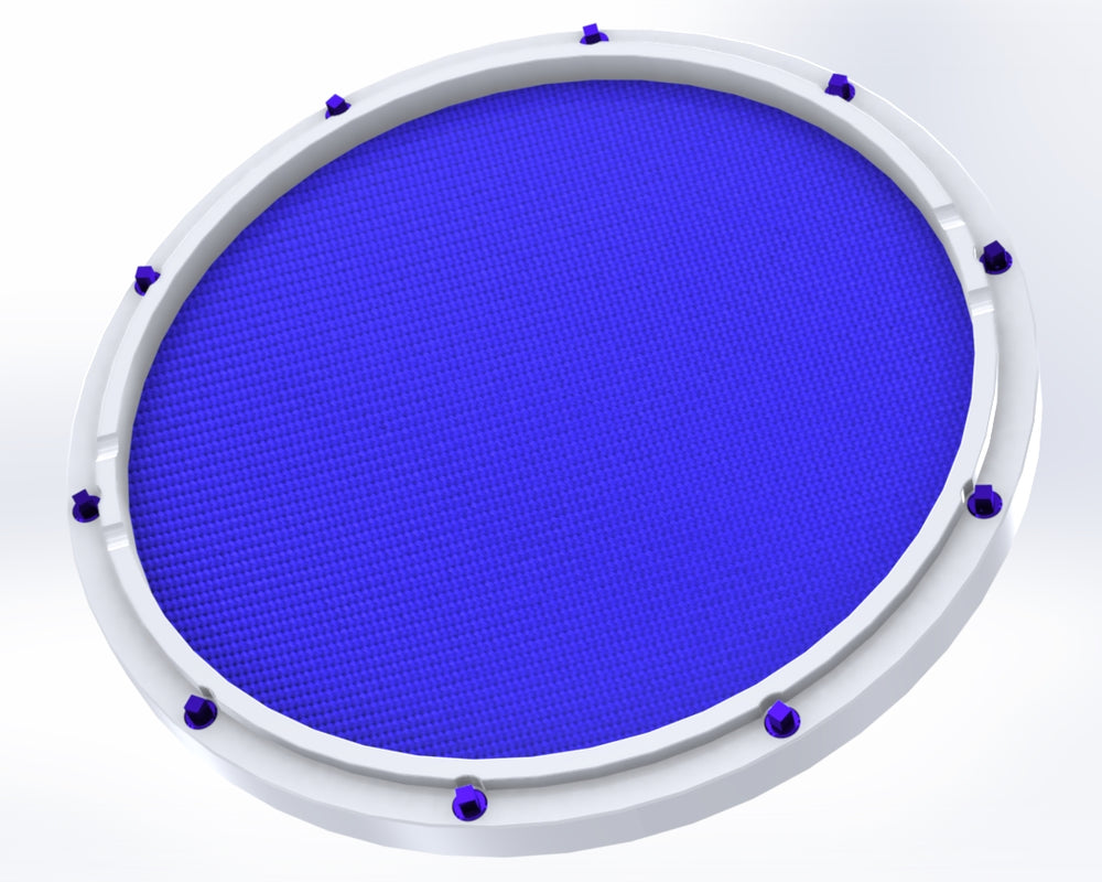 "RCP Drum Company Custom 11"" White Double Sided Snare Drum Practice Pad Midnight Blue - RCP Drum Company"