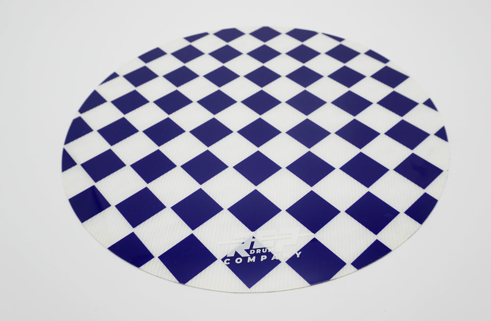 "RCP Drum 14"" Active Snare Drum Practice Pad Kevlar Head Blue & White Checker"