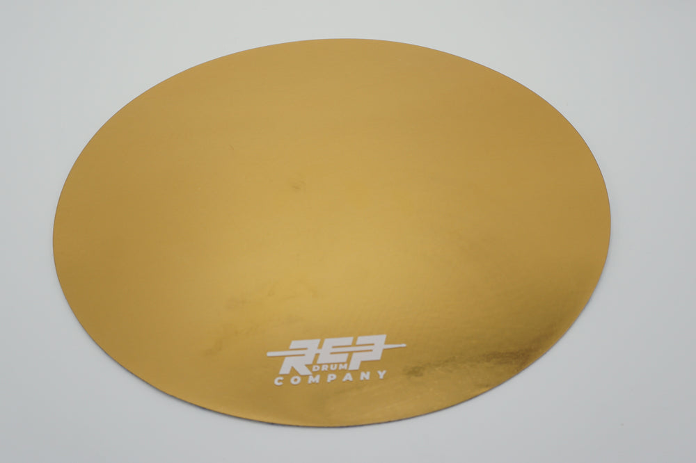 "RCP Drum 14"" Active Snare Drum Practice Pad Kevlar Head Gold Bling"