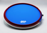 "RCP Drum 14"" Active Snare Drum Practice Pad with Adjustable Snare, Blue Head"