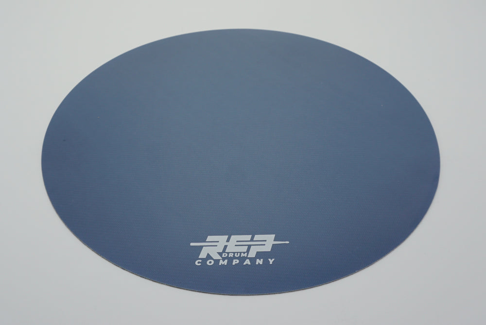 "RCP Drum 14"" Active Snare Drum Practice Pad Kevlar Head Steel Blue"