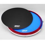 "RCP Drum 14"" Active Snare Drum Practice Pad Package with Adjustable Snare, Blue Head & Laminate"