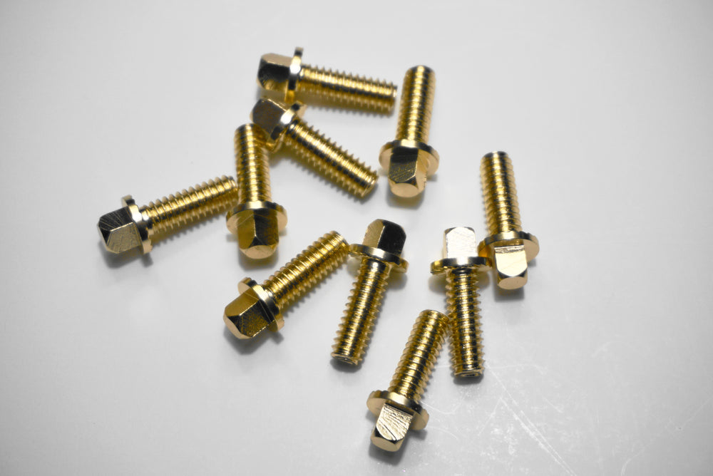 Gold hardware screws 10 count for RCP Drum Premium and Snap Shot Pads - RCP Drum Company
