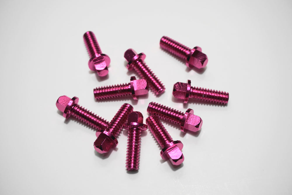 Pink hardware screws 10 count for RCP Drum Premium and Snap Shot Pads - RCP Drum Company