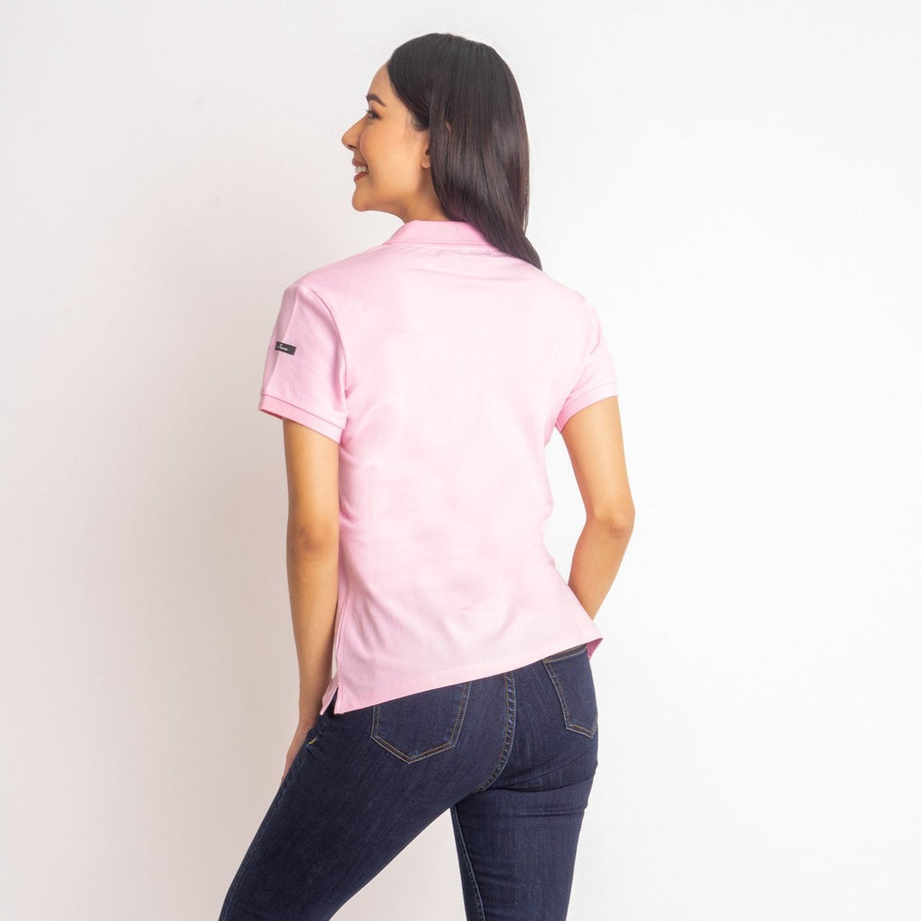 ILOVEMYCOUNTRYTEE-LTPINK-BACK S/s collared tee with placket & Philippine flag embroidery