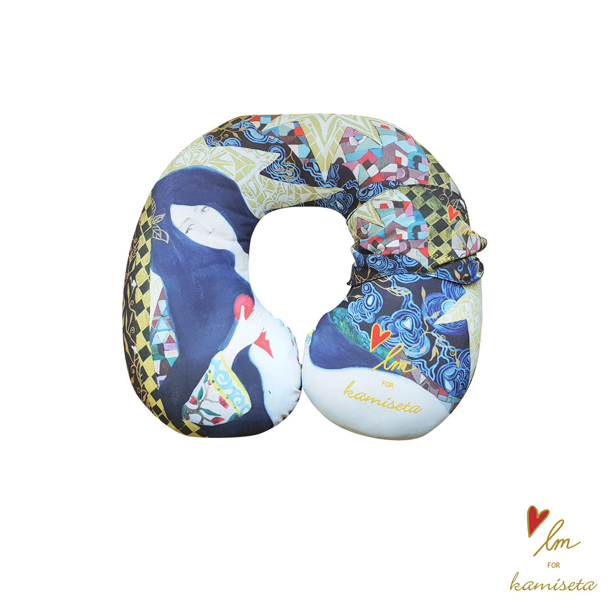LMK Neck Pillow with Eye Cover
