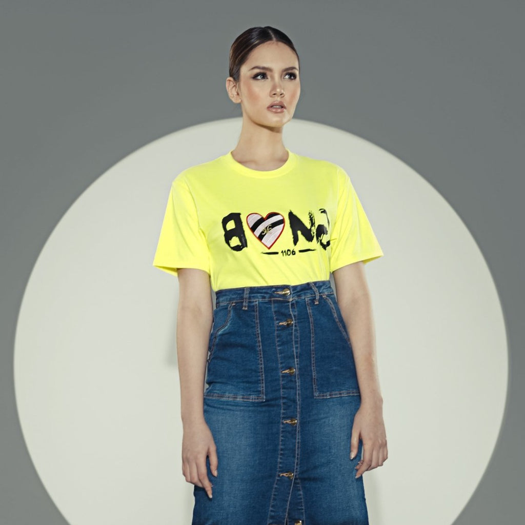 NEON BANGXKAMISETATEE-NEON GREEN Short sleeves round neck tee with print