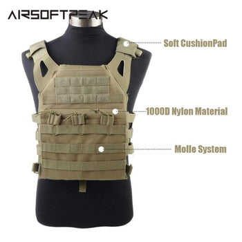 1000D Molle Jpc Tactical Vest Simplified Version Military Chest Protective Plate Carrier Hunting Vests Airsoft Rig