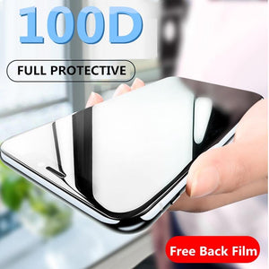 100D Protective Tempered Glass On The For iPhone 11 Pro 6 6s 7 8 Plus X Glass Screen Protector For iPhone XR Xs MAX X Glass Film