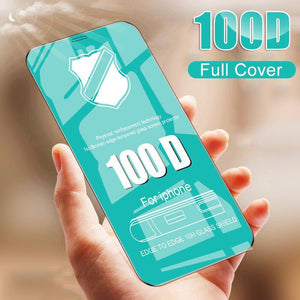 100D Tempered Glass Full Cover On The For IPhone 8 7 6 6s Plus Protective Glass on For IPhone X XR XS MAX Screen Protector Film