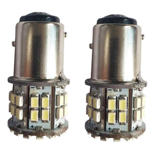 1157 50 LEDs 1206 Turning Lamp Brake Light Tail Blub 12V for Auto Car 2PCS (GOLD)