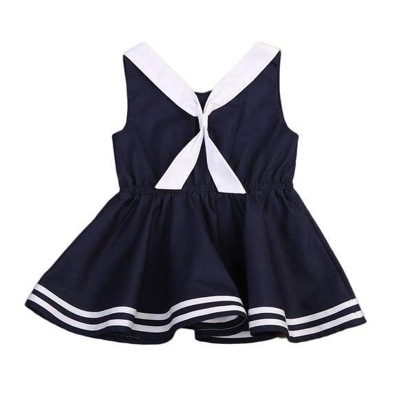 1Pc Sleeveless Casual Baby Girls Dress Tie Summer Party Princess Wedding Dresses