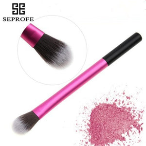 1Pcs Small Eyeshadow Brush Single Pink Aluminum Tube Eye Makeup Brush Highlight Brightening Eye Makeup Brush Makeup Beauty Tools (1 PCS)