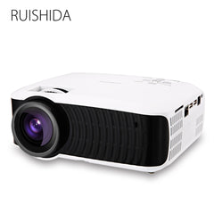 RUISHIDA M3 LCD Projector Home Theater Android 4.4 Wireless Bluetooth 4.0 WiFi 3000LM 1280 x 720 Pixels HD 1080P Media Player (WHITE US PLUG) - Xodeys.com