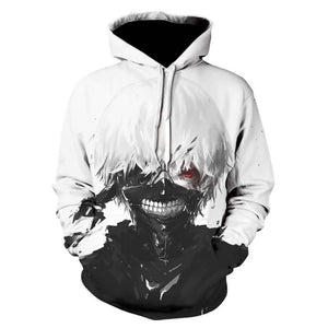 2019 New Hot Sale Tokyo Ghoul Hoodies Mens Hoodie Pullovers Ken Kaneki Printed Male Hoody 3D Printing Hooded Sweatshirts jacket