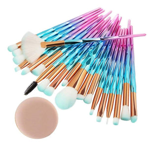 20Pcs Diamond Makeup Brushes Set Powder Foundation Blush Blending Eyeshadow Lip Cosmetic Beauty Make Up Brush Pincel Maquiagem