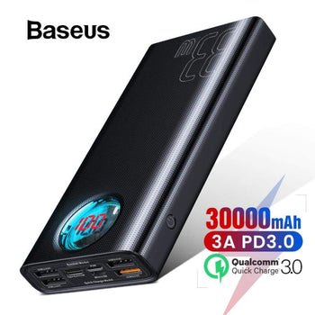 30000Mah Power Bank Usb Type C Pd 3 Fast Charging Quick Charge Powerbank For Iphone Huawei External Battery Charger