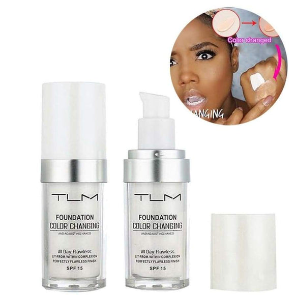 30Ml Magic Color Changing Liquid Foundation Makeup Base Nude Face Cover Concealer Long Lasting Skin Tone