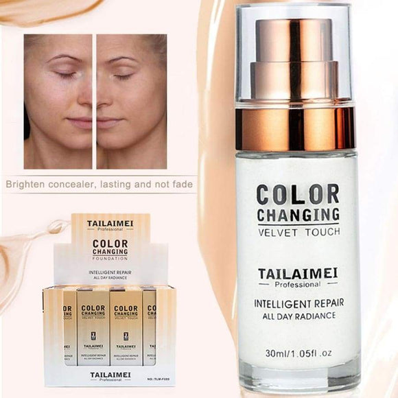 30Ml Tlm Color Change Liquid Foundation For Skin Full Coverage Cream Hydrating Long Lasting Sunscreen Waterproof Makeup Tslm2