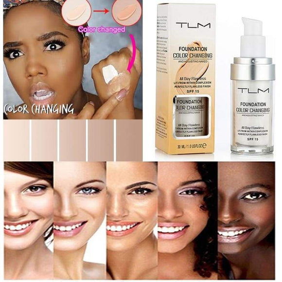 30Ml Tlm Cosmetic Color Changing Liquid Face Foundation Makeup Change To Your Skin Tone By Just Blending Tslm1