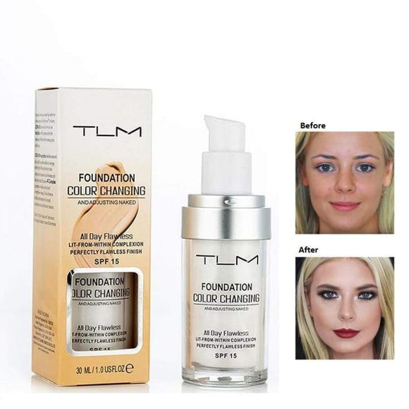 30Ml Tlm Flawless Color Changing Foundation Liquid Base Makeup Change To Your Skin Tone By Just Blending