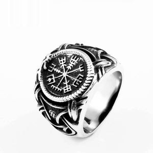316L Stainless Steel Nose Viking Men Ring Dragon Animal Pagan Odin Amulet Vegvisir Scandinavian Jewelry Br8-622