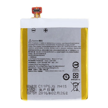 3.8V 8Wh 2050mAh C11P1324 Li-ion Polymer Battery for ASUS ZenFone 5 (YELLOW)