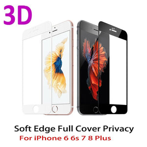 3D Curved Edge Full Cover Screen Protector For iPhone 7 6S 8 Tempered Glass On The For iPhone 6 s 7 8 Plus Protective Glass Film