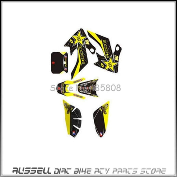 3M Graphics Kit Decals Sticker For Honda Moto Dirt Pit Bike Parts Xr Crf50