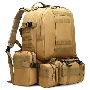 50L Tactical Backpack 4 In 1 Military Bags Army Rucksack Molle Outdoor Sport Bag Men Camping Hiking Travel Climbing