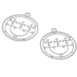 5Pcs/Lot Sceal Sigil Of Sitri Charm Goetia Seal Lucifer Demons Stainless Steel Pendant 28X25Mm