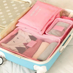 6 Pcs Home Storage Bag Organization Polyester Packing Cube Travel Bags Clothes Closet Divider Tidy Drawer Handbag Laptop