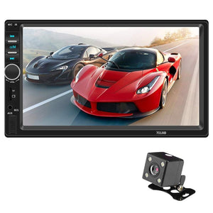 7018B 7 Inch Display / Hands-Free Communication / Fm Radio / Reversing Image Car Bluetooth Mp5 With Camera (Black)