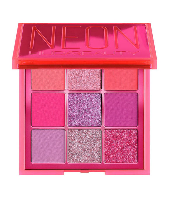 HUDAS beauty Makeup Set nuda beauty Eyeshadow Shimmer Palette Neon Pink Obsessions with Hudas Matte Smokey Contour and Strobe
