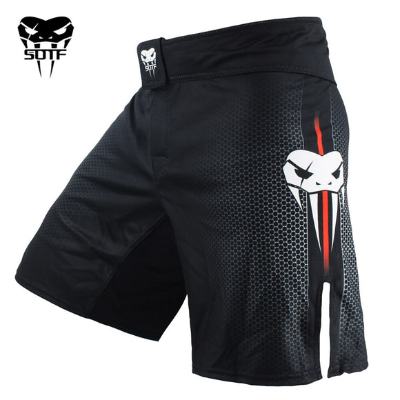 SOTF mma Adults Venomous snake Men Women geometric boxing shorts Tiger Muay Thai mma shorts boxing clothing fight shorts sanda