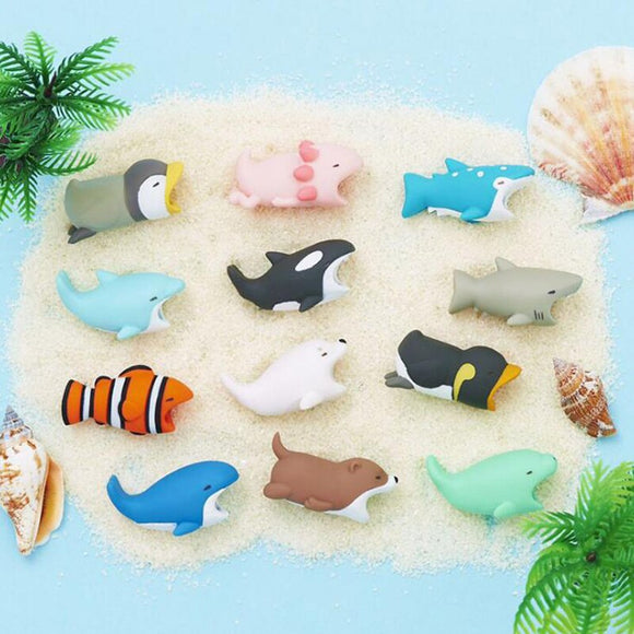 1Pcs Cute Animal Cable Protector Cord Wire Cartoon Protection Mini Silicone Cover Charging Cable Winder For Iphone Charger Cable - Xodey.com