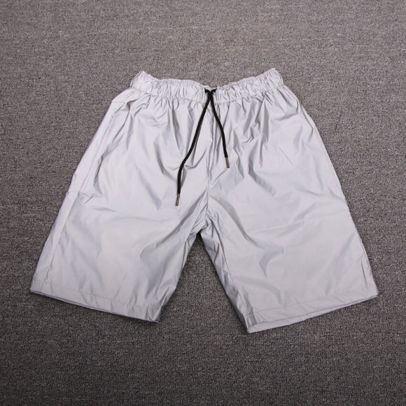 Night Light Reflective Shorts Men Women All Reflective Summer Fashion Shorts Hip Hop Shiny Blink Short Pants For Couples