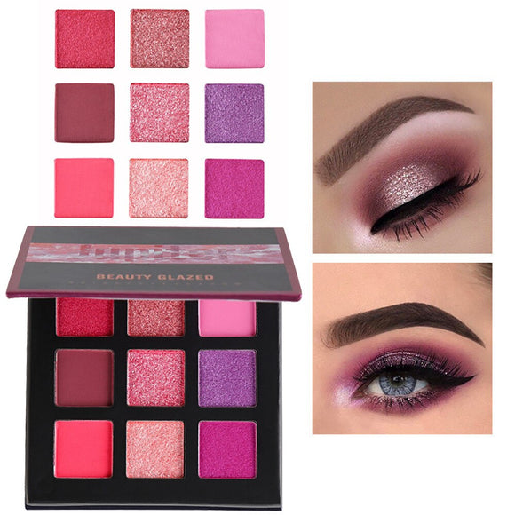 Shimmer Glitter Eye Shadow Powder Palette Matte Eyeshadow Cosmetic Makeup eye shadow & liner combination тни для ве huda #04