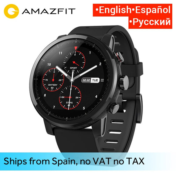 Huami Amazfit 2 Amazfit Stratos Pace 2 Smart Watch Men With Gps Xiaomi Watches Ppg Heart Rate Monitor 5Atm Waterproof - Xodey.com