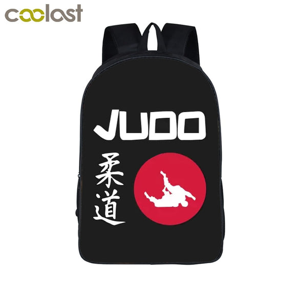 Unisex Cool Martial Art Judo / Taekwondo Women's Backpacks For Teenage Girls Boys Karate / Aikido Children School Bags 3D Laptop Mochila - Xodey