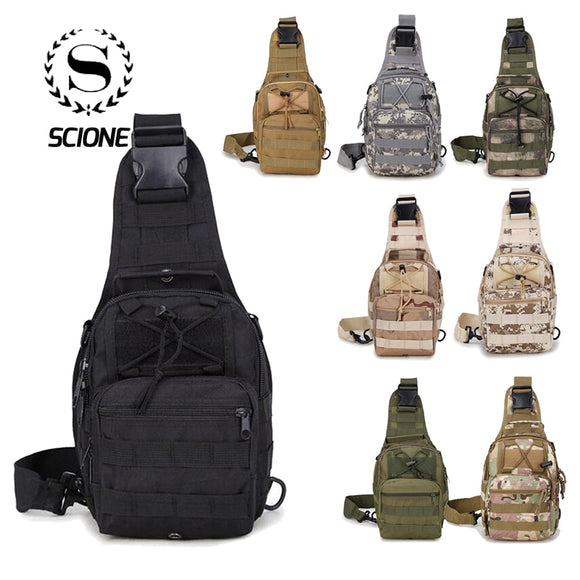 Unisex Scione Men Nylon Waterproof Camouflage Chest Bags Shoulder Backpack Fashion Military Outdoor Sports Crossbody Hiking Travel Bag - Xodey