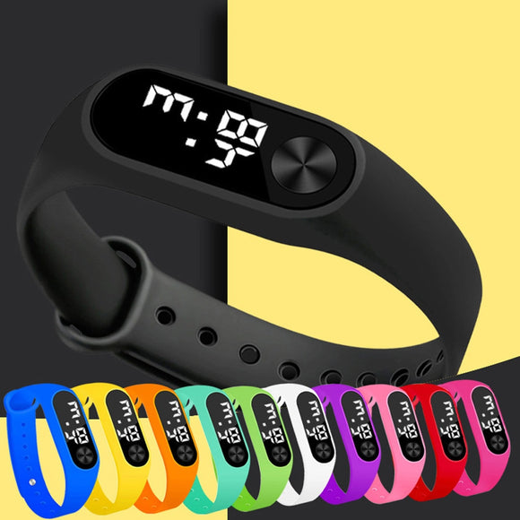Digital Led Sports Watch Unisex Silicone Band Wrist Watches Men Women - Xodey.com