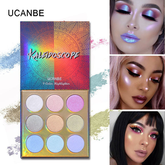 UCANBE Duochrome Laser Polarized Eye Shadow Makeup Palette High-shine Glitter Highlighter Shimmer Brilliant Eyeshadow Powder