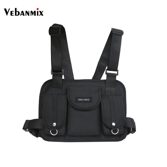 Unisex Vebanmix Fashion Chest Rig Waist Bag Hip Hop Streetwear Functional Tactical Chest Bag Cross Shoulder Bags Bolso Kanye West - Xodey