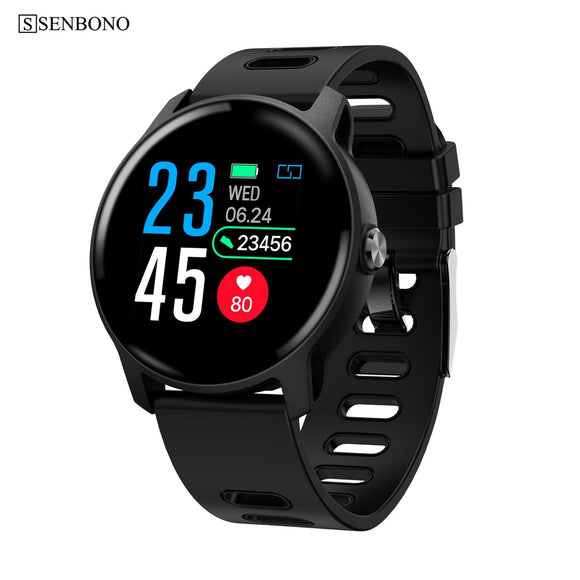 Senbono Men Smart Watch  S08 Ip68 Waterproof  Fitness Tracker Heart Rate Monitor Smartwatch Women Clock For Android Ios Phone - Xodey.com