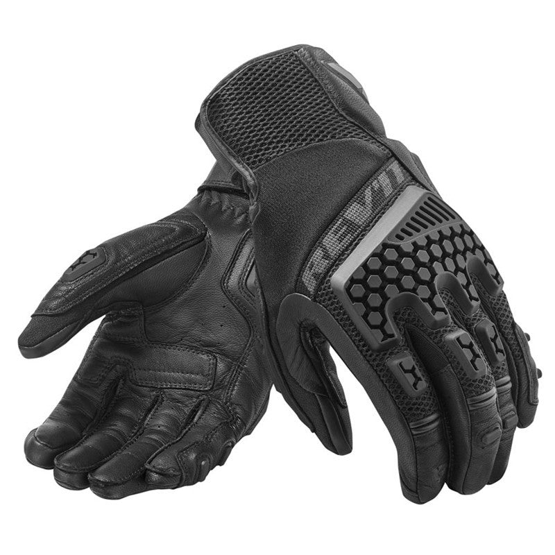 Unisex Black Revit Sand 3 Breathable Glove Motorcycle Cycling Riding Racing Leather Gloves Motocross Touch Screen Guantes S-Xxl - Xodeys.com