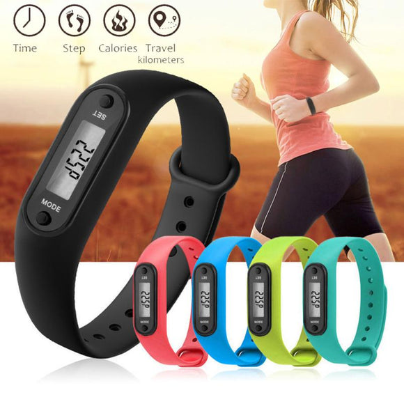 Sale Unisex Lcd Run Step Watch Bracelet Pedometer Calorie Counter Digital Measuring Walking Distance Life Waterproof Watches - Xodey