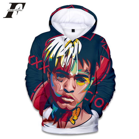Women's Rapper Xxx Tentacion Cotton Hoodies Sweatshirts 3D Hip Hop Singer Xxxtentacion Uniform Men's Hoodies Hip Hop Sweatshirt - Xodey